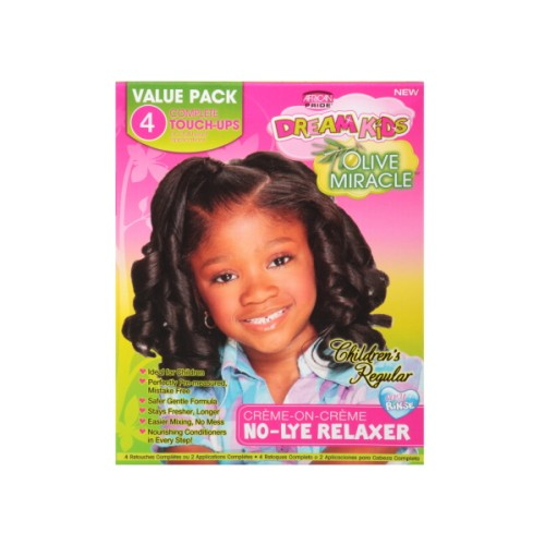 African Pride Dreams Kids Olive Miracle 4 Touch Up Kit Regular
