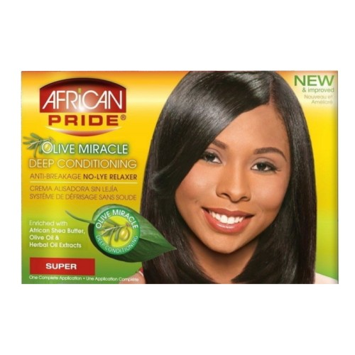 African Pride Olive Miracle DC Anti-Breakage Relaxer Kit Super