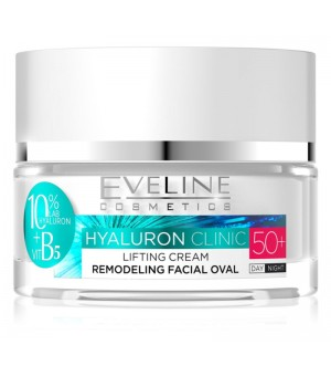 Eveline Cosmetics Hyaluron Clinic Day And Night Cream 50+ 50ml