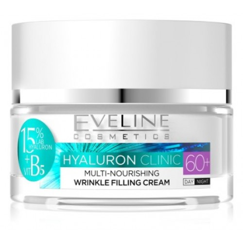 Eveline Cosmetics Hyaluron Clinic Day And Night Cream 60+ 50ml