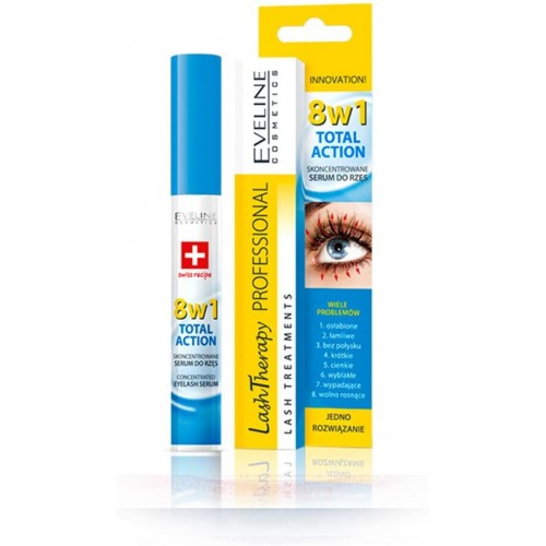 Eveline Cosmetics Serum Concentrated Eyelash 8 In 1 Total Action
