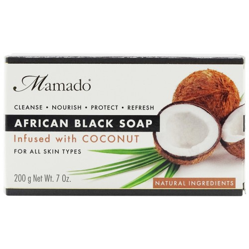 Mamado African Black Soap Infused With Coconut 200g