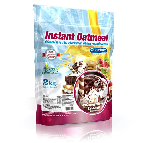Quamtrax Gourmet Oats Meal Bag Chocolate & Cream 2Kg