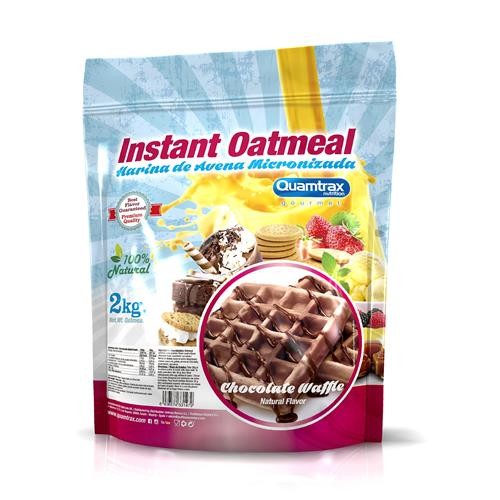 Quamtrax Gourmet Oats Meal Bag Chocolate Waffle 2Kg