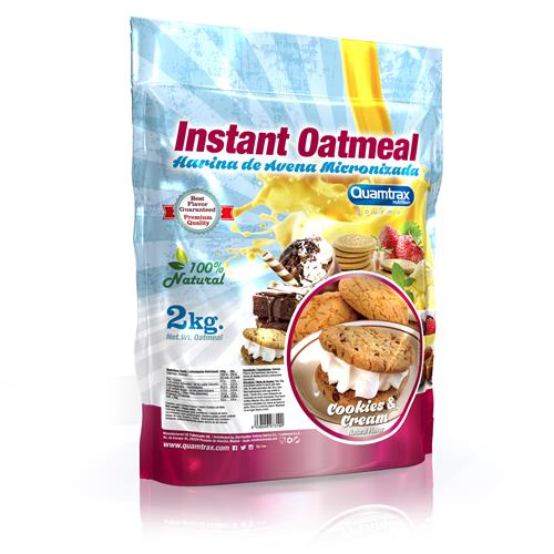 Quamtrax Gourmet Oats Meal Bag Cookies & Cream 2Kg