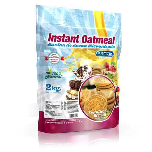 Quamtrax Gourmet Oats Meal Bag Traditional BIscuit 2Kg